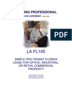 Lafl105 Simple Pro Tenant Florida Lease Office Industrial Retail Property[2]