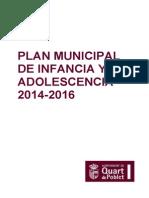 Plan Municipal Infancia y Adolescencia 2014-2016 de Quart de Poblet