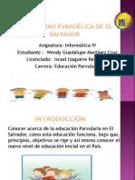 Educacion Parvularia en El Salvador