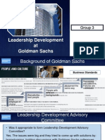 Leadership Development at GS
