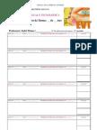 (Ficha de registo sumários da disciplina de Educação Visual e Tecnológica.