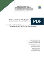 Modelo de Administração Pública Societal sob a Perspectiva dos Movimentos Sociais
