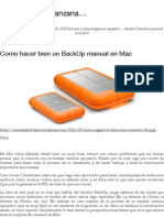 BackUp Manual en Mac