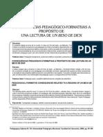 Artículo ''Consecuencias Pedagógico-Formativas a Propósito de Una Lectura de Un Beso de Dick''