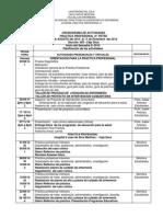Cronograma de Actividades y Carta