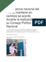 20/11/14 La Dirigencia Nacional DelPRI Se Mantiene Sin Cambios Se Acordó Durante La Realización de Su Consejo Político Nacional