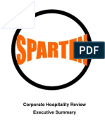 Sparten Corporate Hospitality Review