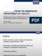 EM - Emergency Management Summit Minneapolis 2014 presentation - Remarks From the Minnesota Department of Health_Jane Braun