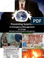 EM - Emergency Management Summit Minneapolis 2014 presentation - Surprise Prevention in Emergency Management_Eric Waage