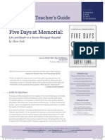 Five Days at Memorial Teacher's Guide