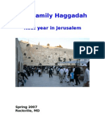 Final Version of Haggadah to Printer 3-12-07
