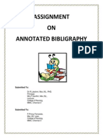 Annodated Bibliography