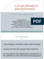 The Role of Line Manager in Managing Performance