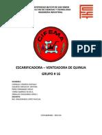 Escarificadora - Venteadora de Quinua
