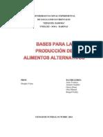 Bases Para La Producción de Alimentos Alternativos