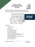 Wood & Wire Stationary 3-Bin System