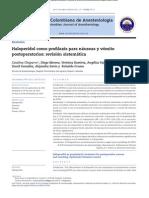 Haloperidol en NVPO