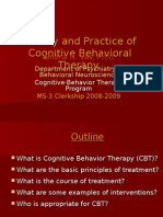 COGNITVE BEHAVIOR THERAPY