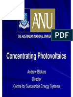 Concentrating Photovoltaics