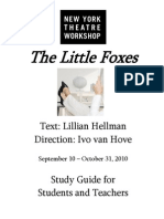 2010-11 Little Foxes Study Guide