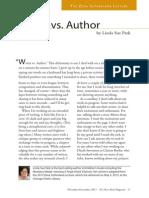 Writer vs. Author