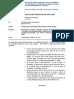 INFORME N°009-2014 ACCIONES REALIZADAS EN EL MES DE FEBRERO