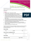 Suzy Foundation Application 2014