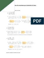 Resolver sistemas de ecuaciones por el método de Gauss