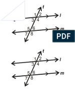 Parallel Lines Intersected by a Transversal GO