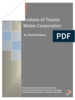 Analysis of Toyota MARKETING