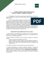 Convocatoria Fondo Social 2012 2013