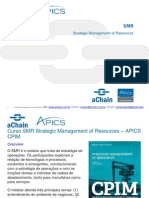 SMR _ aChain APICS CPIM _ SMR Strategic Management of Resources