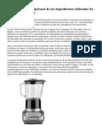 Fundamentales Y Opcional de los Ingredientes utilizados En Recetas de Galletas