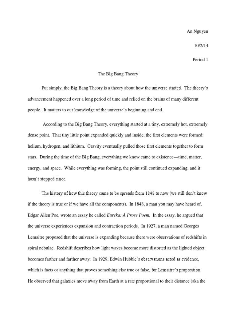 big bang theory essay big bang cosmic microwave background