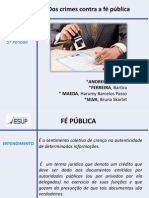 Dos Crimes Contra a Fé Publica Slides Corretos
