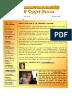 CBOA Newsletter December 2009