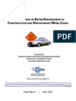 cal_dot_effectiveness of extra enforcement in construction & maintainance work zones