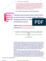 Euro as the Cause for the Iraq War