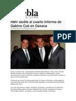 15-11-2014 Puebla on Line - RMV Asiste Al Cuarto Informe de Gabino Cué en Oaxaca