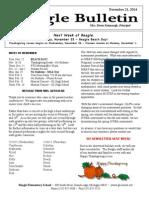 Beagle Elementary School Newsletter November 14th