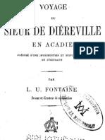 Livre - Voyage du Sieur de Diéreville en Acadie - 1885