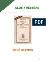 Guenon Rene - Articulos Y Reseñas 1
