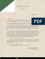 Lettre - Archevêché de Moncton - 8 décembre 1939