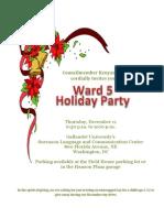 2014 Ward 5 Holiday Party