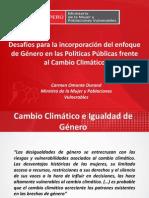Género en Políticas Públicas - Ministra Carmen Omonte 17Nov14