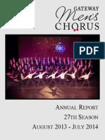 Annual Report 2014 (27th Season)