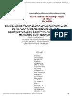 Aplicación de Las Técnicas Cognitivo Conductuales en Un Caso de Conductas Específicas_ Asertividad, Solución de Problemas y Manejo de Contingencias