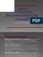 aet-515 instructional plan-becoming your own therapist