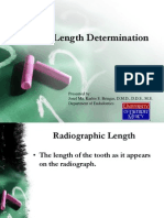 Endodontics Working Length
