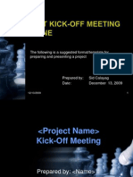 Kick-Off Meeting Presentation